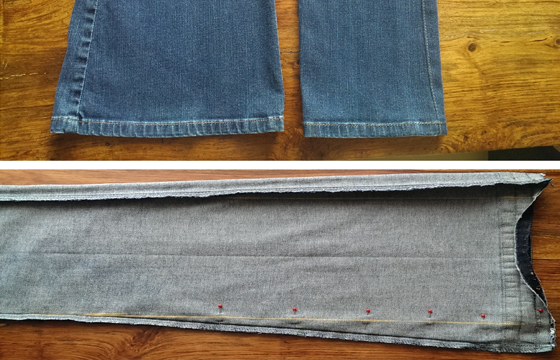 heywoods_clothing_alterations_womens_flare_denim_jeans_removal